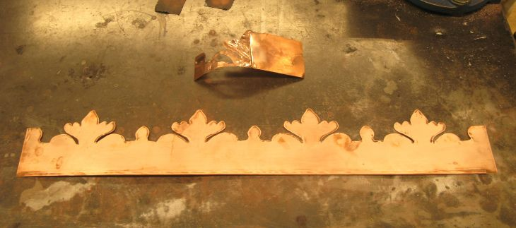 Making a copper crown from sheet copper. --Guild of Thing Smiths