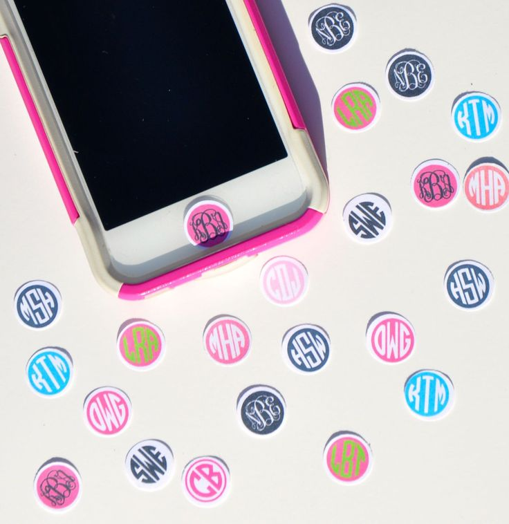 Personalized, Custom Monogrammed IPhone IPod IPad Home Button Stickers--Set of Three. $4.99, via Etsy.