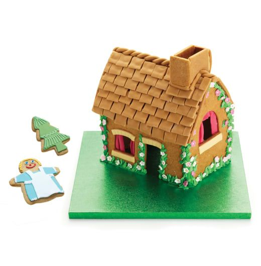 Sweetly Does It Gingerbread House Kit -   This set makes an impressive baking statement without tearing your hair out. With the seven cutters, step by step guide and recipe included in the pack, it is easy to create the gingerbread house of your dreams, complete with tree and little person in the garden. Beautifully packaged in a house shaped gift box, the set also makes a perfect present at any time of year.