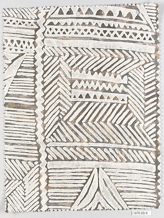 MAYAN: Fortuny (Italian, founded 1906)  Medium: Cotton Dimensions: L. 12, W. 9 inches (30.5 x 22.9 cm.) Classification: Textiles-Printed Credit Line: Gift of Countess Elsie Lee Gozzi, President and Owner of Fortuny, Inc., 1976