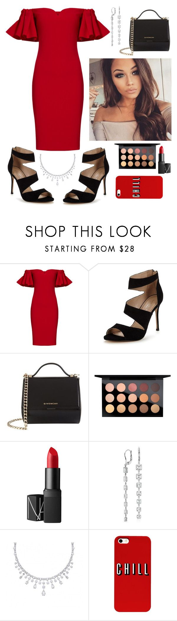 """Untitled #88"" by silviamachado20 ❤ liked on Polyvore featuring Badgley Mischka, Carvela, Givenchy, MAC Cosmetics, NARS Cosmetics and Blue Nile"