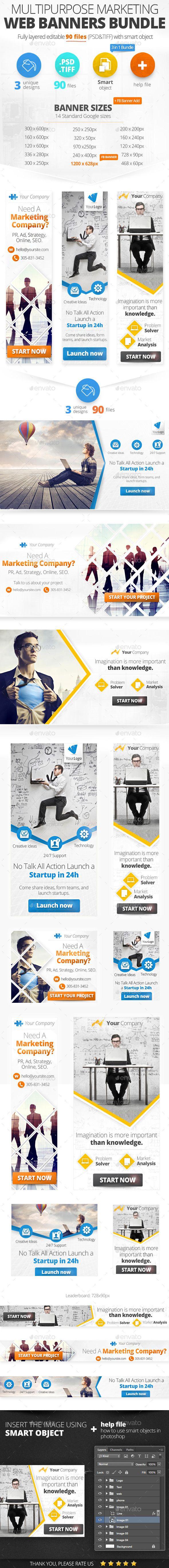 Multipurpose Marketing Web Banners & FB Banner Tempalte #design #ads Download: http://graphicriver.net/item/multipurpose-marketing-web-banners-fb-banner/12926330?ref=ksioks