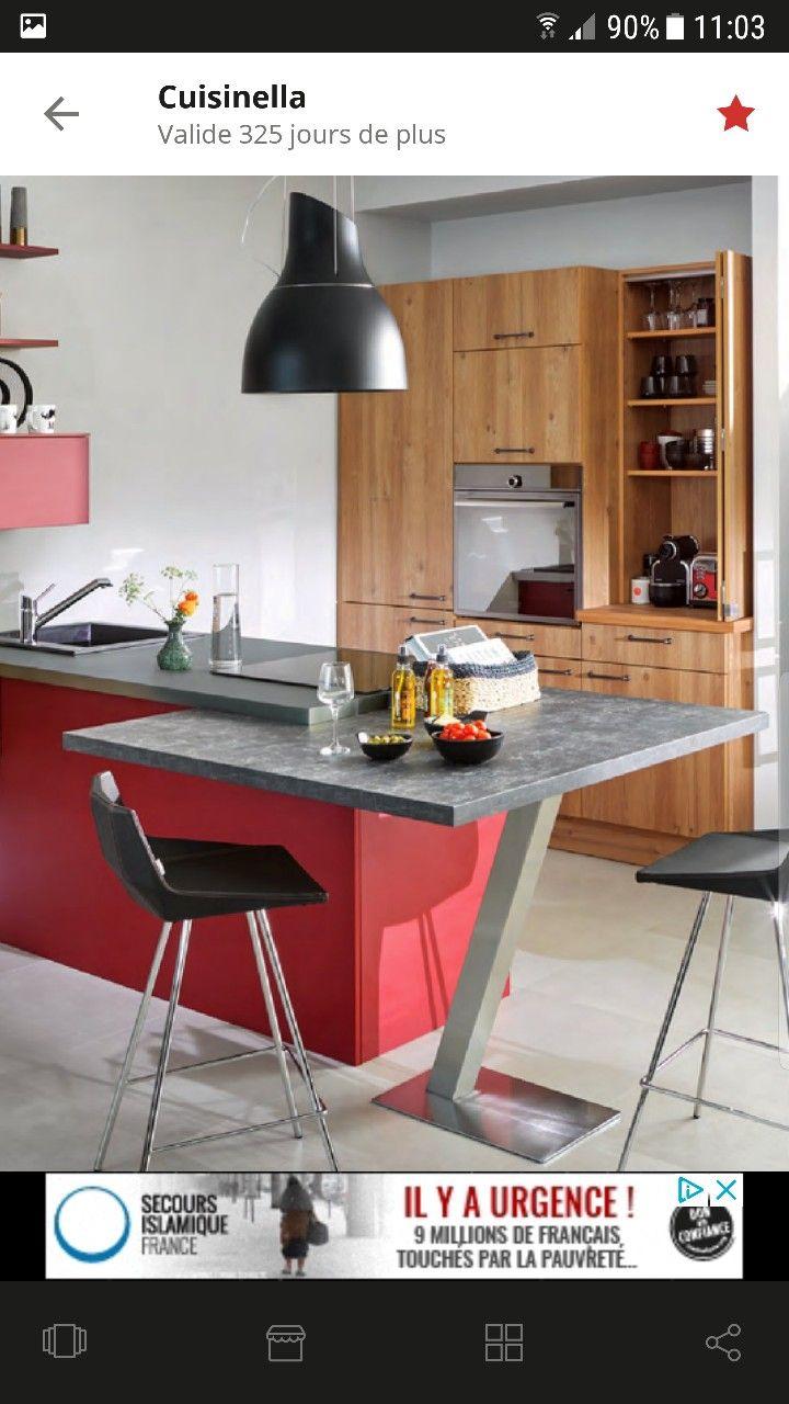 Épinglé par Lina sur cuisines bois | Cuisine rouge, Cuisine