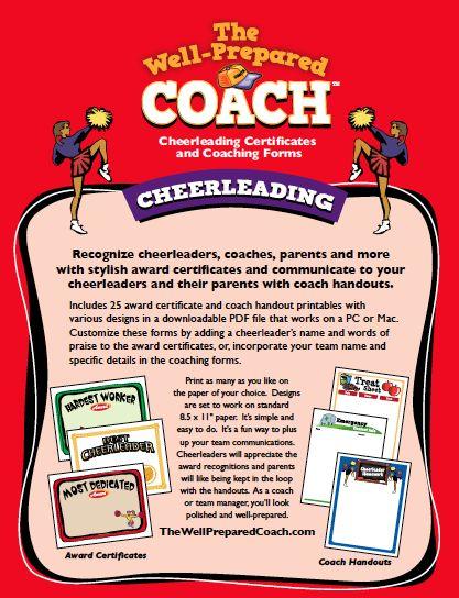 Cheerleading Award Templates Certificate Maker