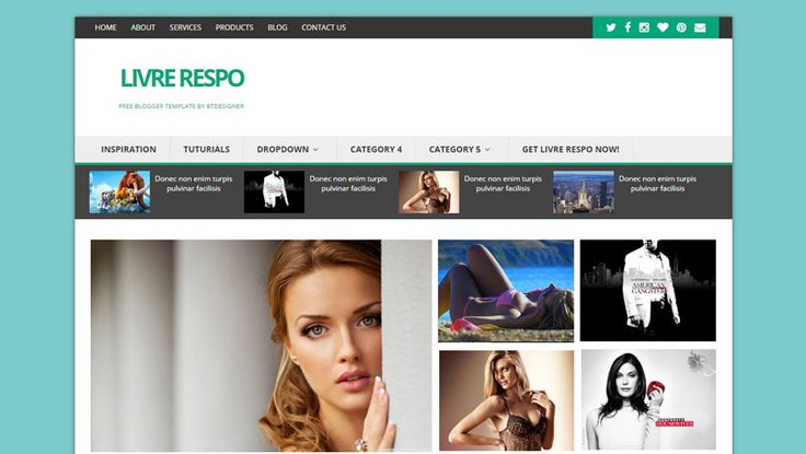 Livre Responsive Blogger Template Free Download BTdesigner