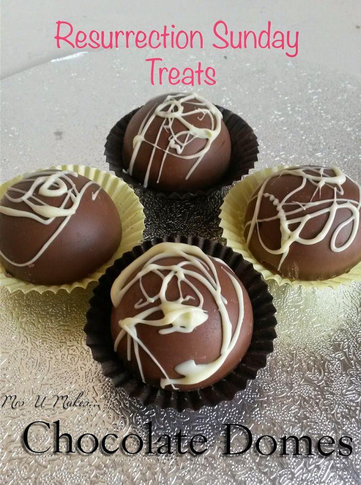 Mrs U Makes...: Resurrection Sunday Treats: Chocolate Domes  @MrsUMakes