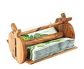 Servilletero de madera Manzana
