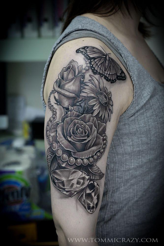 sunflower pearl tattoo - Google Search