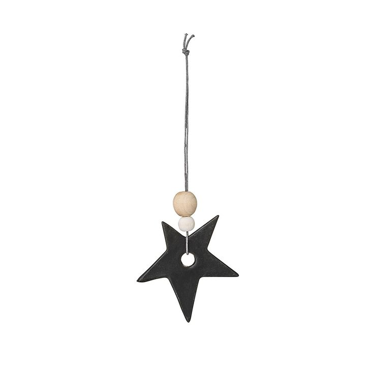 Bloomingville+Ornament+Tähti+6+cm,+Musta,+Bloomingville