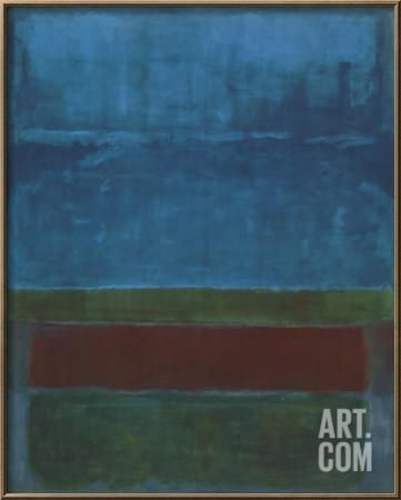 Blue, Green, and Brown Framed Art Print by Mark Rothko at Art.com