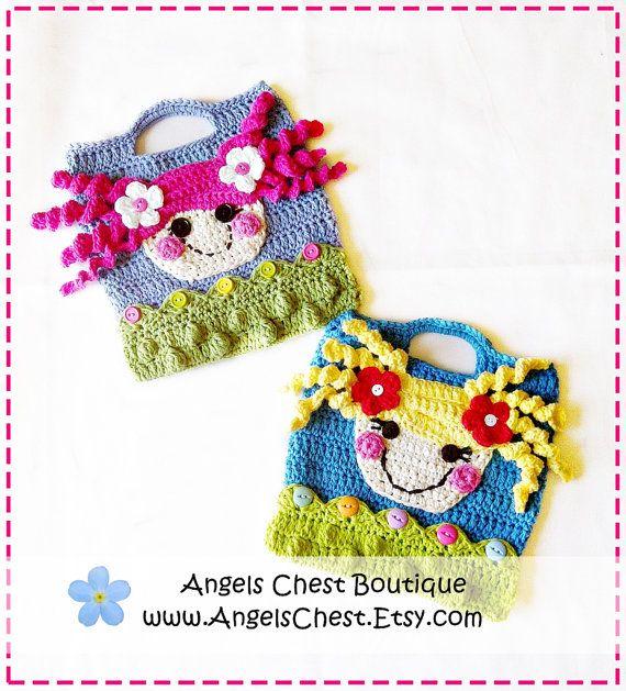 Lala Loopsy Lalaloopsy Doll Inspire Crochet Purse por AngelsChest, $6.99
