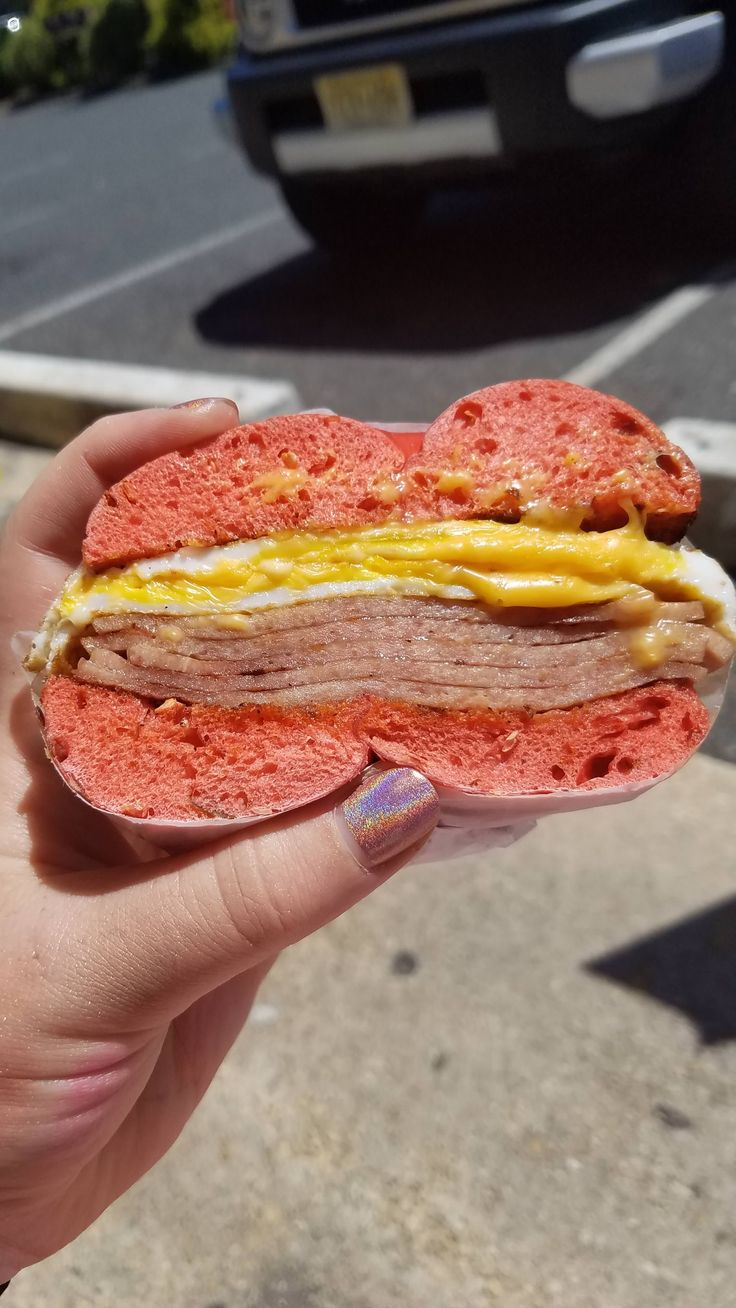 A New Jersey breakfast: pork roll egg and cheese on a jalapeño bagel. #sandwiches #food #lunch #love #salads #recipe #breakfast #coffee #foodie #foodporn