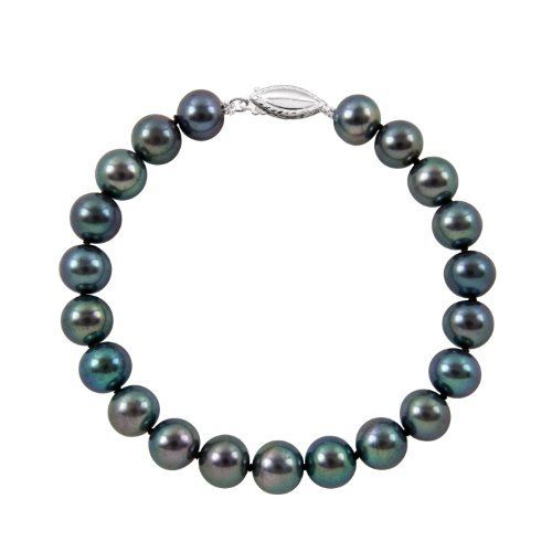 """5.5-6.0mm 8"""" Black Freshwater Pearl Bracelet """"A"""" Sterling Silver in Gift Box Joy De Mer. $35.00. """"A"""" Quality Pearls, 100% Silk Thread. Free Shipping. .925 Sterling Silver Clasp. 8"""" Black Freshwater Pearl Bracelet. Includes Gift Box, Bag, Cleaning Kit. Save 75% Off!"""