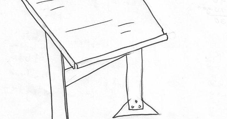 Como fazer uma mesa de desenho. Todo artista precisa de um lugar para trabalhar e criar sua arte. Um ítem necessário para todo ilustrador é uma mesa de desenho. Nas mesas comuns, o artista tem que se debruçar sobre seu trabalho, o que lhe causa tensão nas costas e impede que a luz ilumine adequadamente as ilustrações. Criar sua própria mesa de desenho diagonal é uma excelente ...