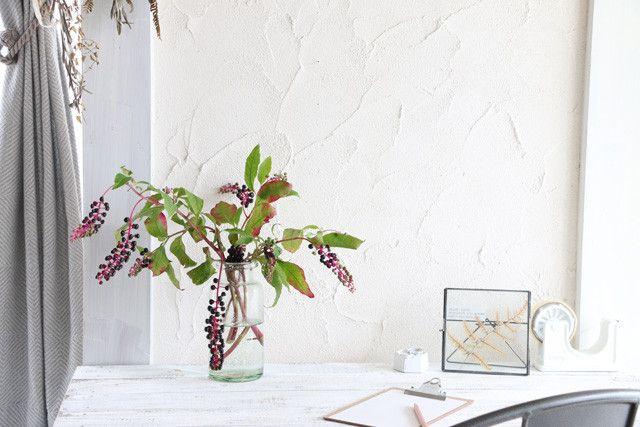 雑草アレンジたわわに実ったヨウシュヤマゴボウポイント3つですてきなグリーン飾りに