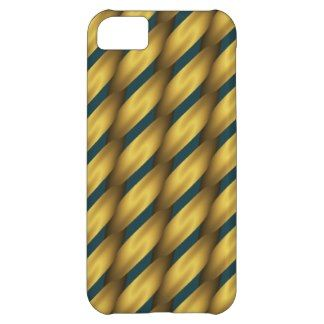 Wood Lattice 2 On Blue Spruce Chic Pattern iPhone 5C Covers