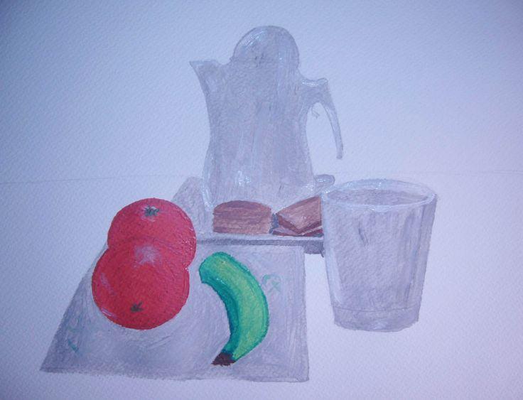 En esta imagen tenemos el primer boceto, con el cuadro planteado.