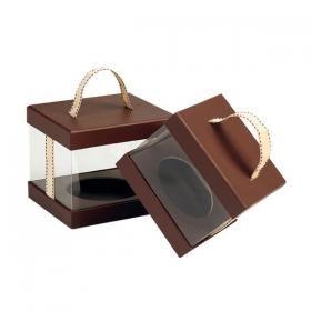 Contenant à l'allure contemporaine, cette boîte en carton mettra en valeur vos compositions !