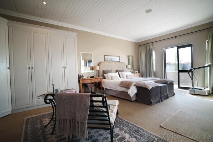 Main bedroom seen in exclusive estates at myroof.co.za