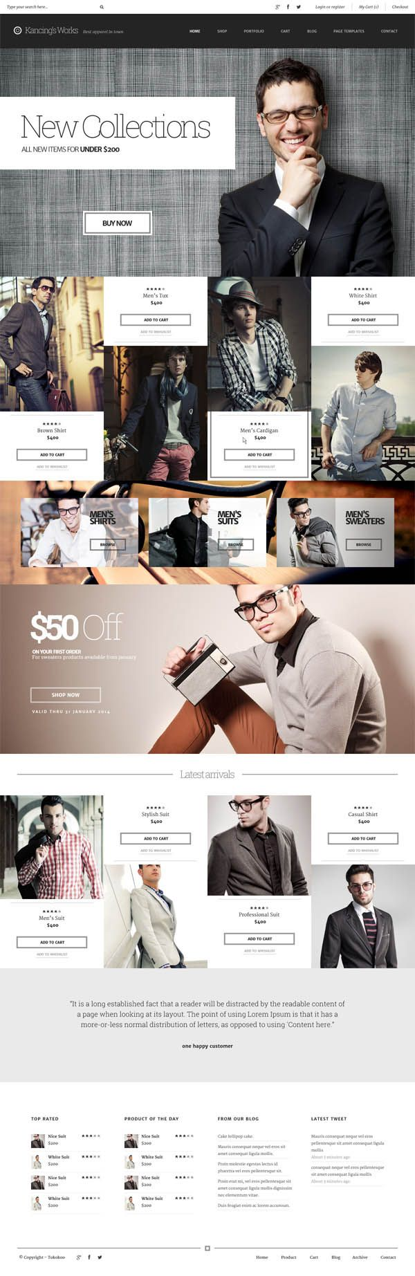 Kancing: Fashion WooCommerce WordPress Theme #website #web #webdesign #theme #wp #wordpress