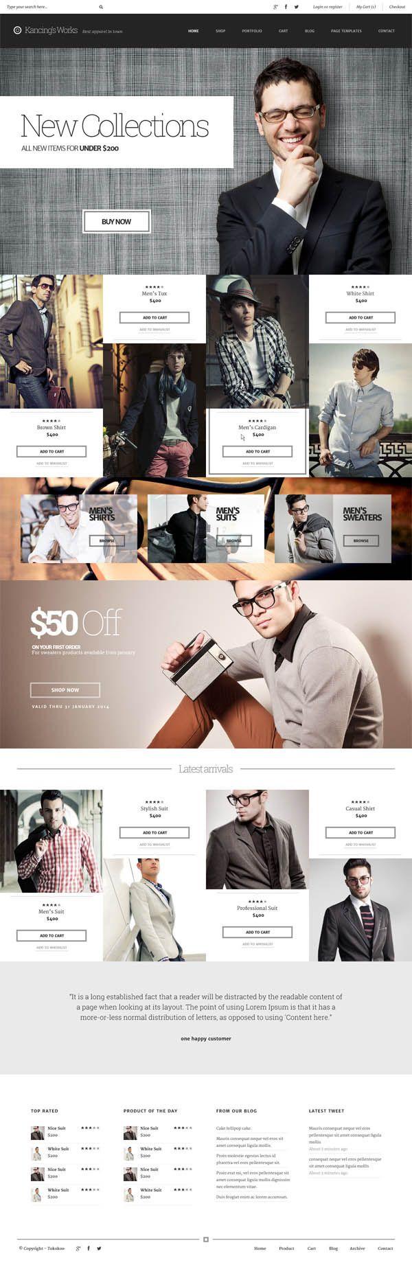 Kancing : Fashion WooCommerce WordPress Theme #html5themes #responsivewordpressthemes #responsivedesign #html5 #css3