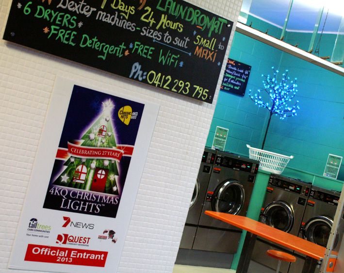 Snap Laundromat is an official entrant for Brisbane's 4KQ Christmas Lights Display #Snap Laundromat #snaplaundromat #Laundromats #Christmas #ChristmasLights #Brisbane #Taringa #4KQ