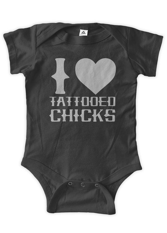 I Heart Tattooed Chicks Baby One Piece Body Suit by BumpCovers