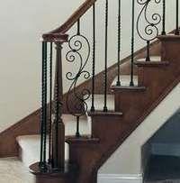rod iron staircase railing