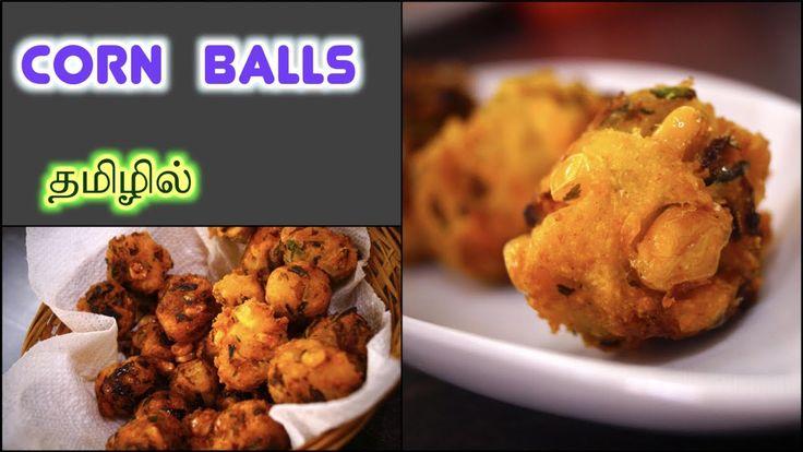 CORN Balls - in Tamil | Crispy QUICK Snack | Fritters