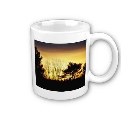 $14.10 #mug #sunset #zazzle #trees #nature #photography