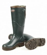 Hard Wearing Extra Wide Fit Green Wellies
