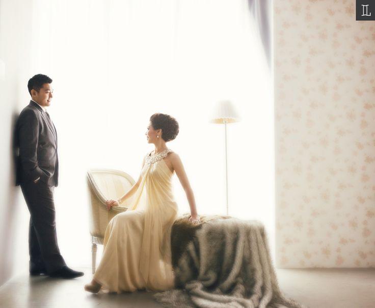 #prewedding #photography #indoor #studio #leonardi #golden #gown #inspiration