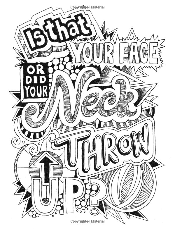 amazonsmile creative insults retro coloring designs for foul mouthed beasts a sweary coloring - Coloring Stuff