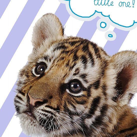 Dream BIG little one! (purple) ... cute for girls, nursery room....