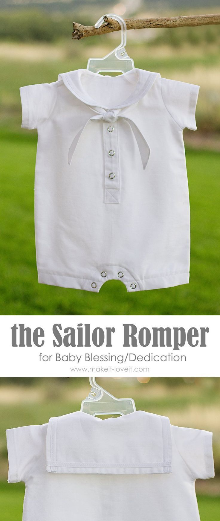 DIY Baby Boy Sailor Romper For Blessing Dedication Christening