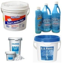 Pool water chemicals