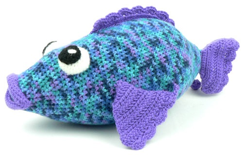 Fishbone Crochet Pattern Free : 45 best images about Rainbow Fish on Pinterest