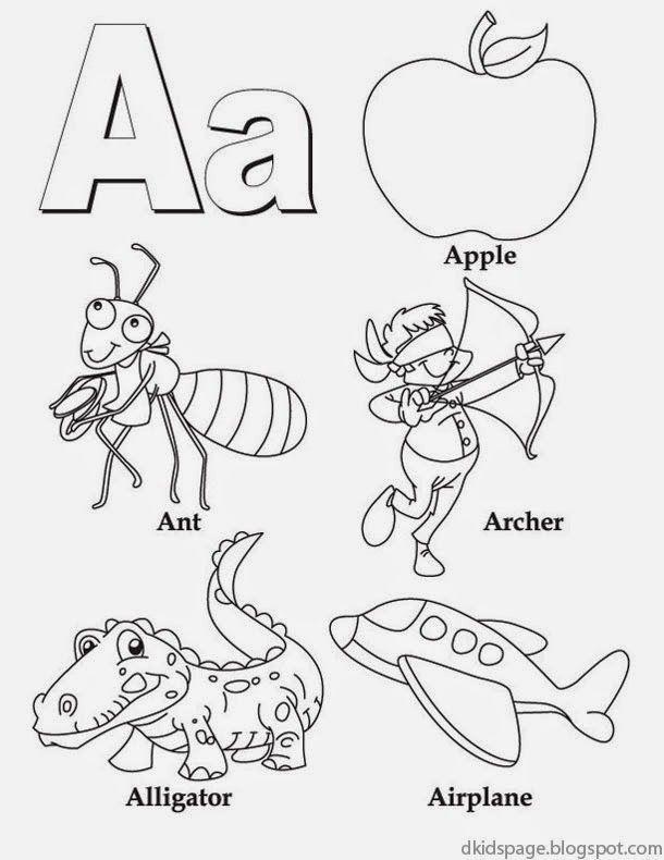 Alphabet Letter A – Printable English Worksheet