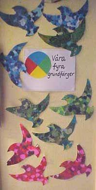 Skapligt Enkelt: Fåglar i grundfärger.