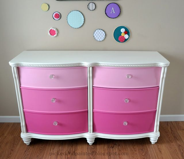 Picked & Painted: Abbys Dresser Makeover & Faux Embroidery Art