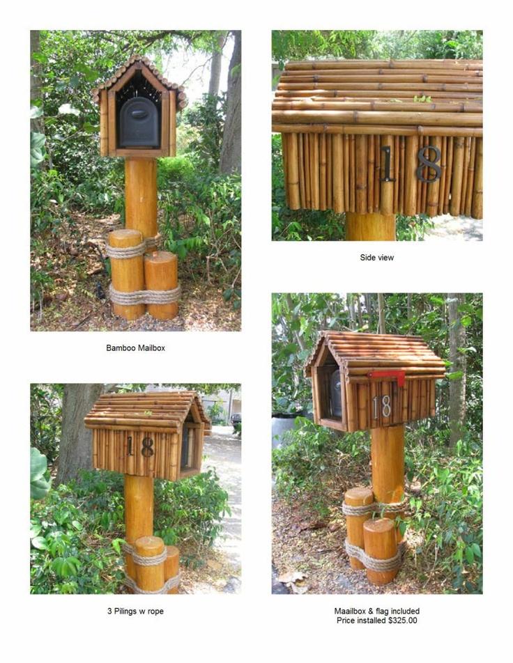 bamboo mailbox  arc-tiki-huts.com ... of custom tiki huts, tiki bars, tiki umbrellas, and accessories in