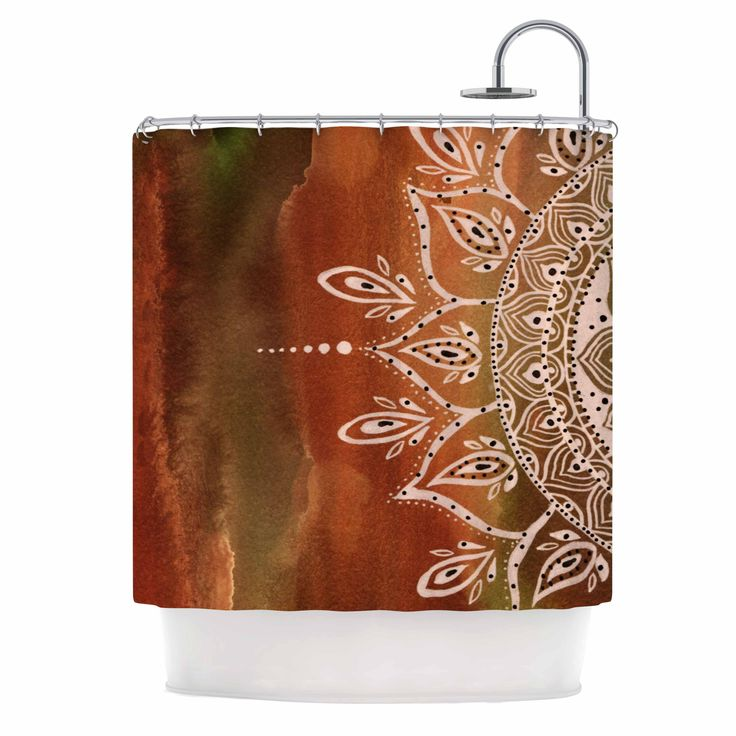 gold and brown shower curtain. Li Zamperini  Autumn Mandala Orange Brown Shower Curtain Best 25 shower curtains ideas on Pinterest