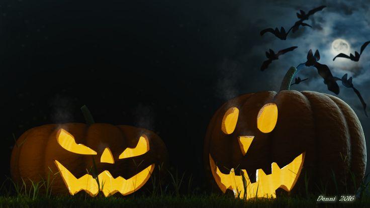 Halloween pumpkins 3D