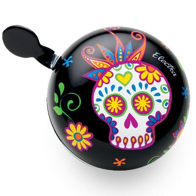SUGAR SKULLS DING DONG BELL (black) Electrabike Online Store | Bike Parts and Accessories