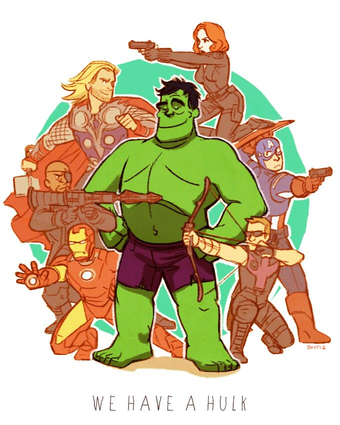 we have a hulk by ~Sairobi on deviantART