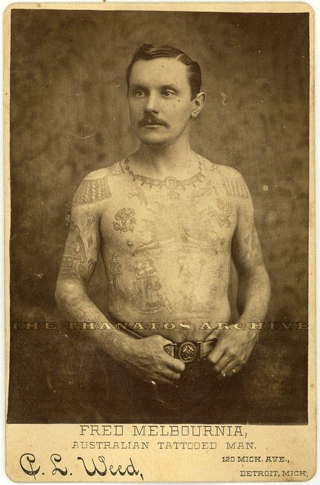 Victorian Man Tattoo Australian tattooed ma...