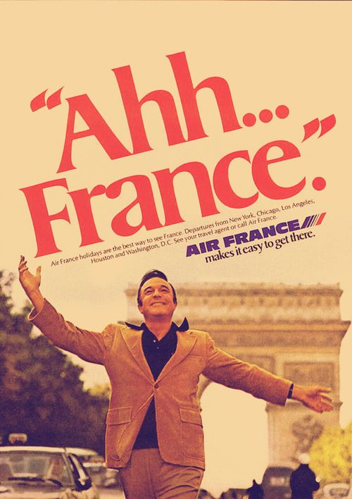Gene Kelly in Paris - Air France Airlines ad, 1977.