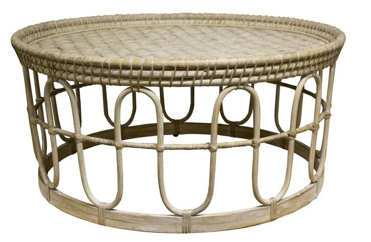 The authentic appeal of natural materials such as rattan creates furniture that is airy and light - the perfect look for a relaxed decor with a Summery emphasis. Featuring an elegant round shape and white wash finish, our Coffee Table makes the perfect centre piece for a casual living space.