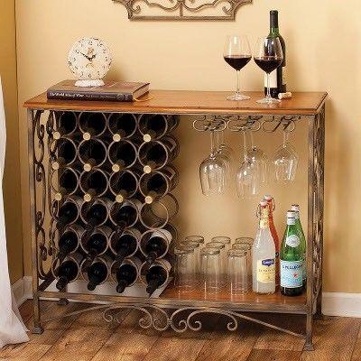 Wine Bar Furniture Rack