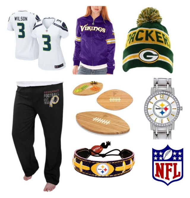 """""""Wildcard weekend day 2"""" by mbakovic ❤ liked on Polyvore featuring NIKE, Starter, Majestic, Game Time, Picnic Time, women's clothing, women's fashion, women, female and woman"""